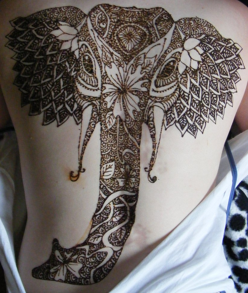Elephant Henna Tattoo Design Tattoo Bytes