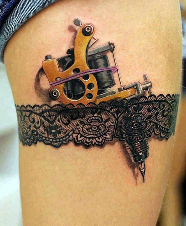 Gun-thigh-tattoo