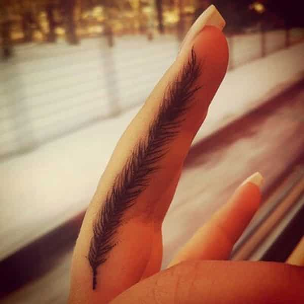 Small-Feather-tattoo ideas