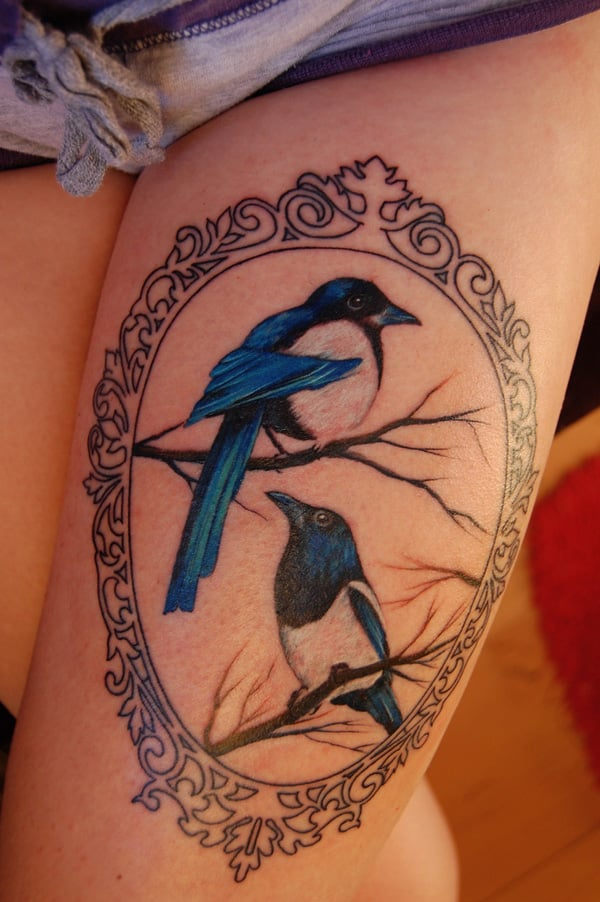 thigh-tattoo swallow