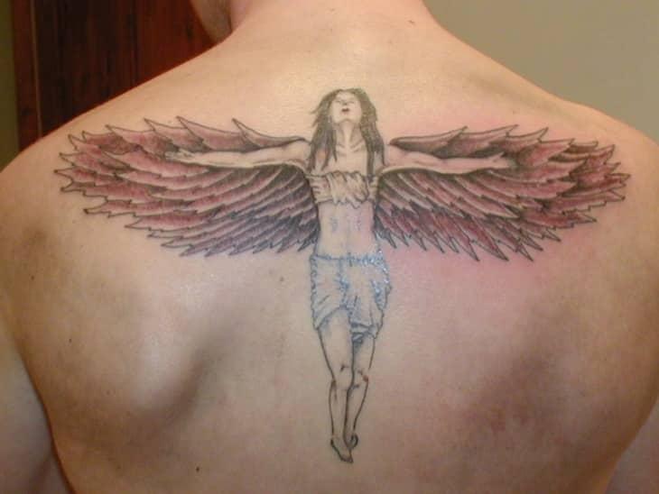 Warrior Angel Shoulder Tattoo