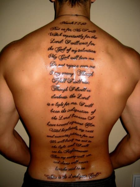 30 Cool And Inspirational Bible Verse Tattoos 2017