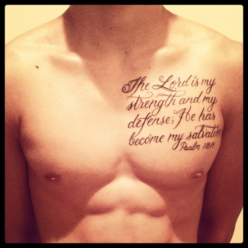 99 Bible Verse Tattoos To Inspire: 30 Cool And Inspirational Bible Verse Tattoos 2017