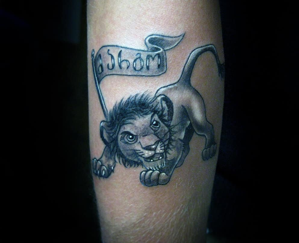 c66bf89191fd6 leg leo tattoos - Tattoo Bytes