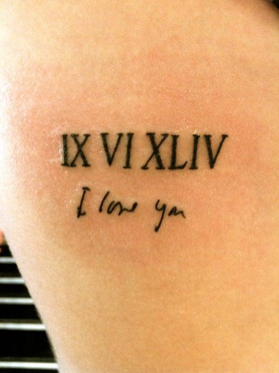 2015 Roman Numeral Tattoo Designs Tattoo Bytes