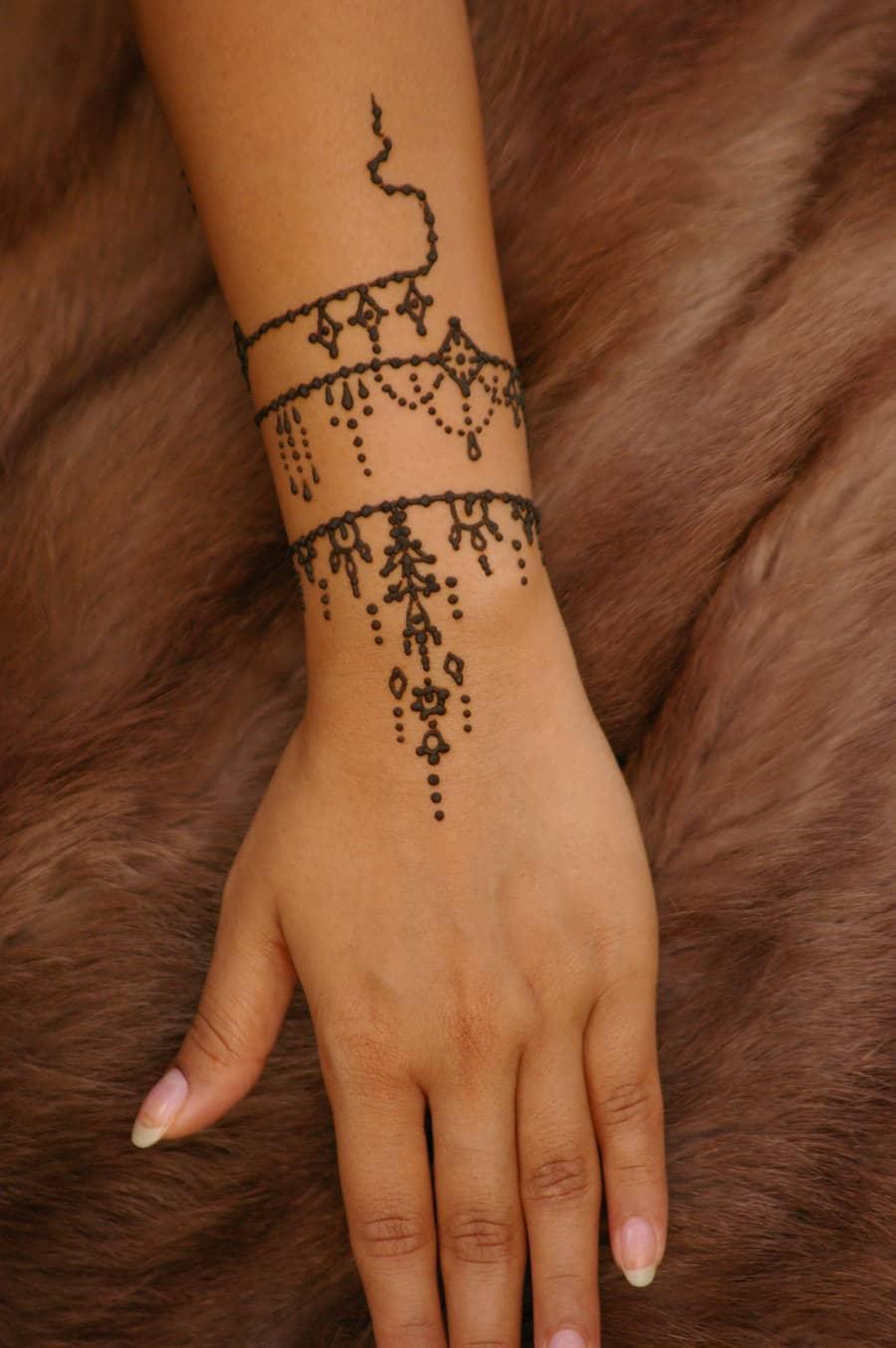 Simple Hand Henna Tattoo Tattoo Bytes