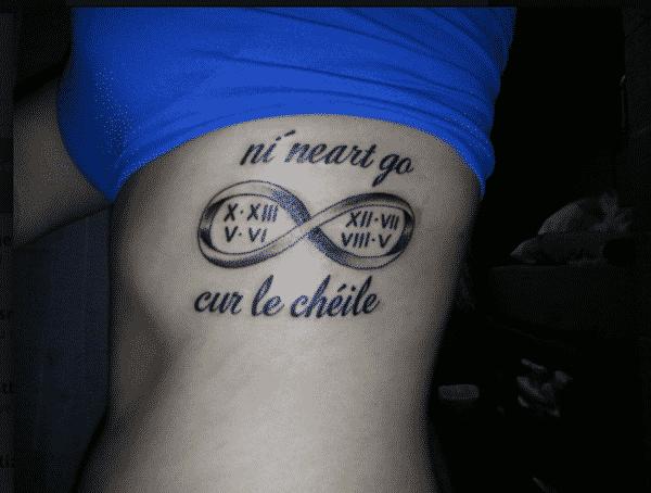 Infinity Roman Numerals Tattoos Tattoo Bytes