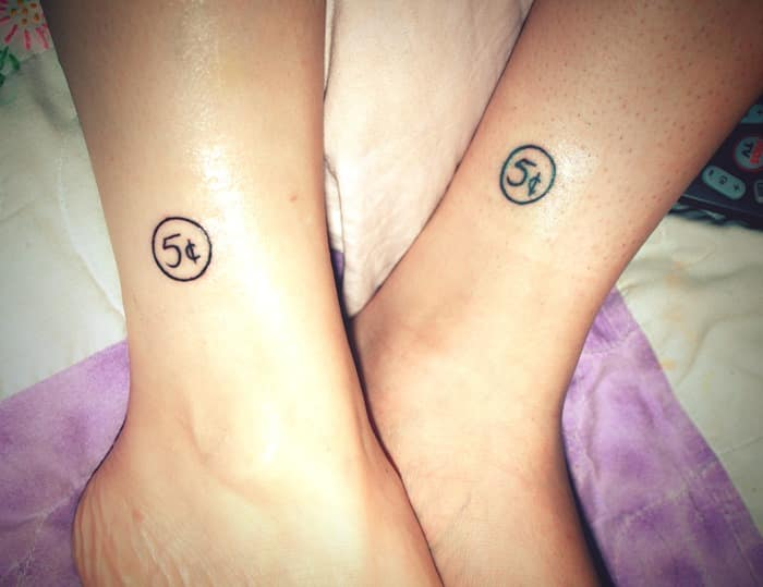 Cute-Leg-Matching-Tattoo