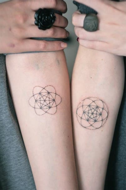 Matching-Tattoos-Metatrons-Cube