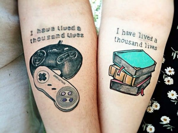 amazing couple matching tattoo