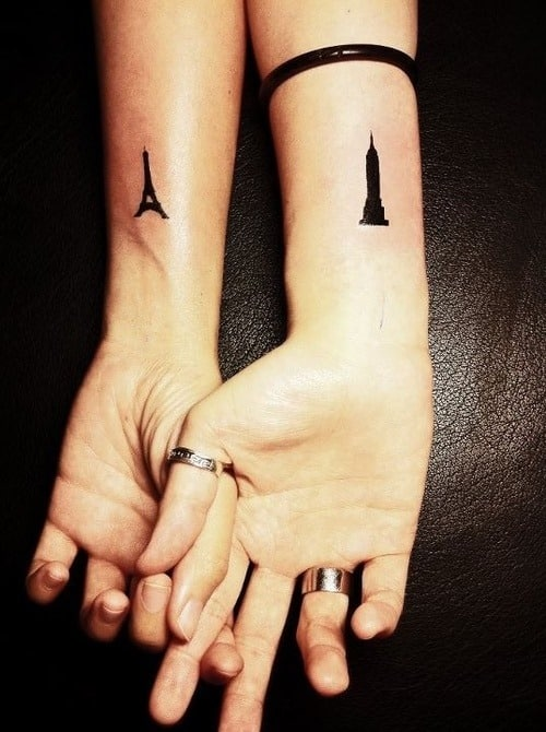 best matching tattoo for couple 2016