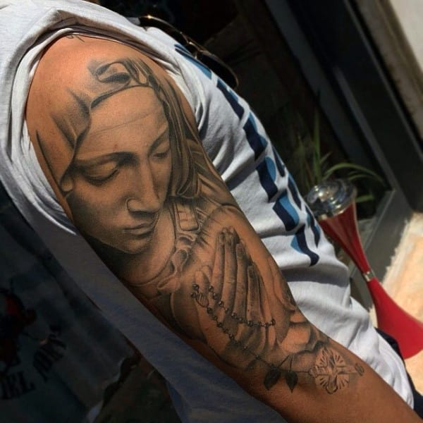 mother-mary-praying-hands-rosary-tattoo-for-males-on-arm