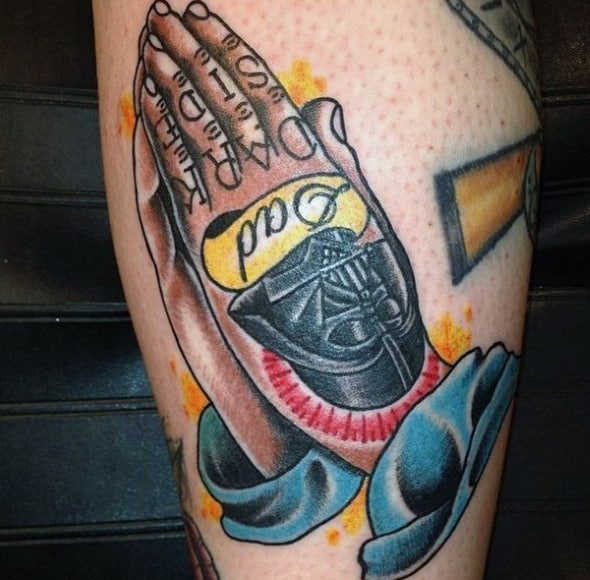 old-school-tattoos-male-hands-praying-star-wars