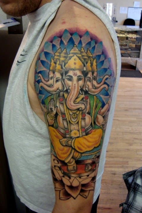 Ganesh-piece-on-left-arm.-Art-done