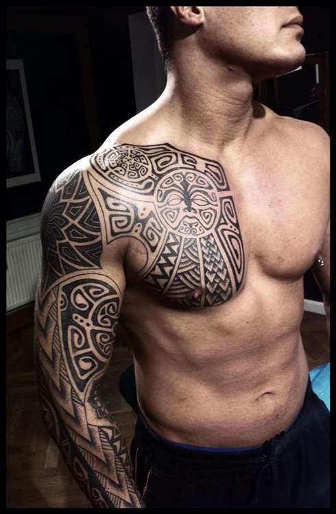 Vikings-tattoos-Nordic-Folk-Art-Geometry-arm tattoos