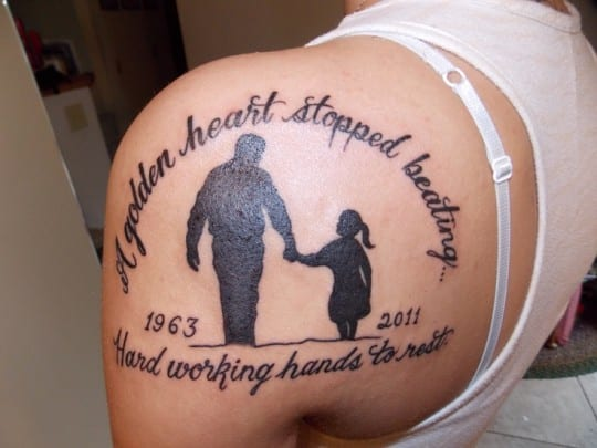 memory tattoos for dad