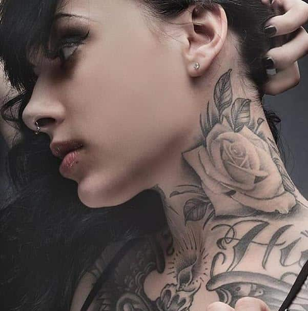 neck tattoos for females