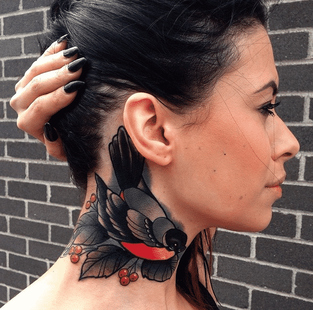 neck tattoos for girls