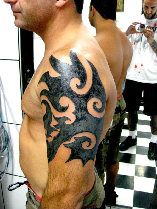 tribal-arm-tattoo ideas for men