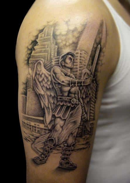 Warrior-angel-wing-tattoo