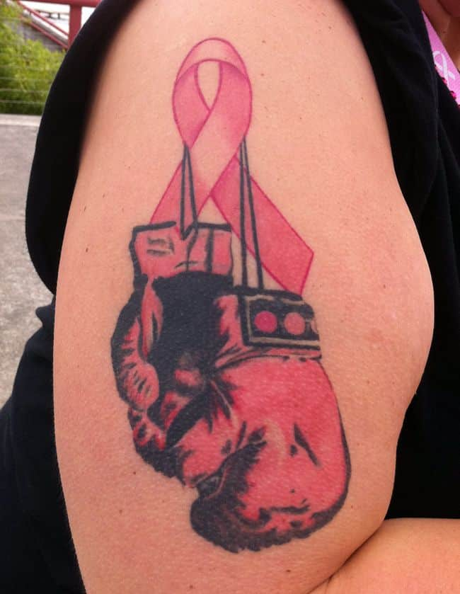 Fight Breast Cancer Tattoos Boxing Gloves Tattoo Bytes