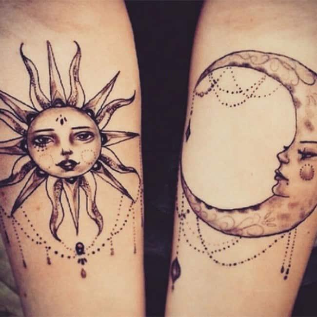 Couples Tattoos Cute Sun Moon Tattoo Bytes