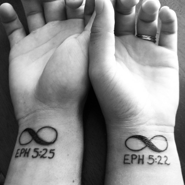 His And Her Infinity Matching Couples Tattoos Tattoo Bytes