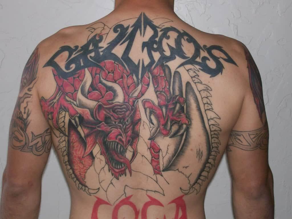 Red Dragon Tattoo Red Black Dragon Tattoo Tattoo Bytes