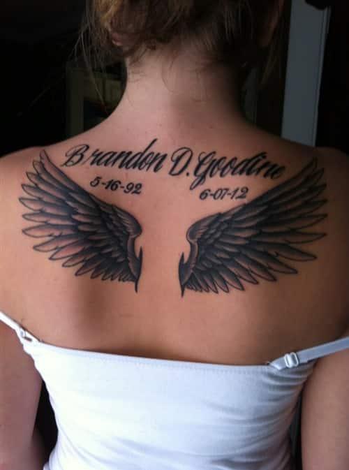 Angel Wing Tattoos Women