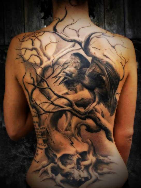 raven tattoo ideas for women
