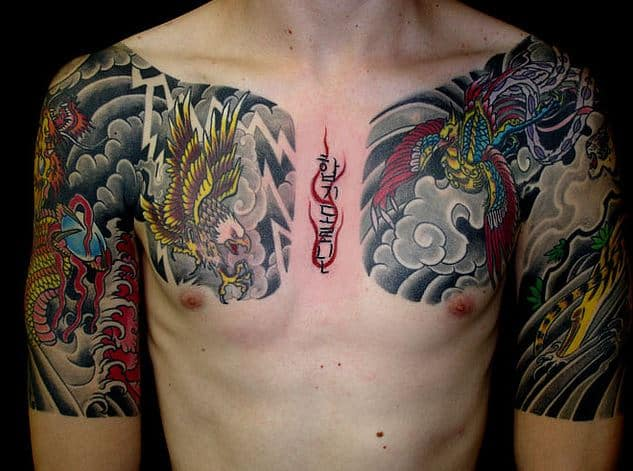 colorful eagle badass tattoos