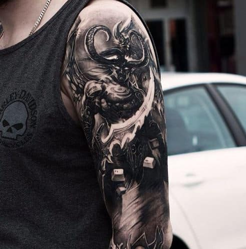 scary badass tattoo sleeve