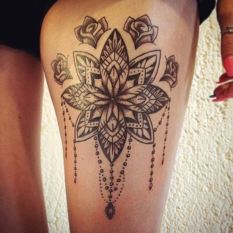 awesome mandala design thigh