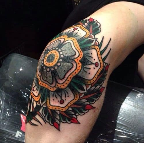mandala tattoos designs on knee