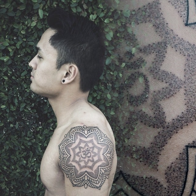 mandala-tattoo-for-men-with-om-symbol