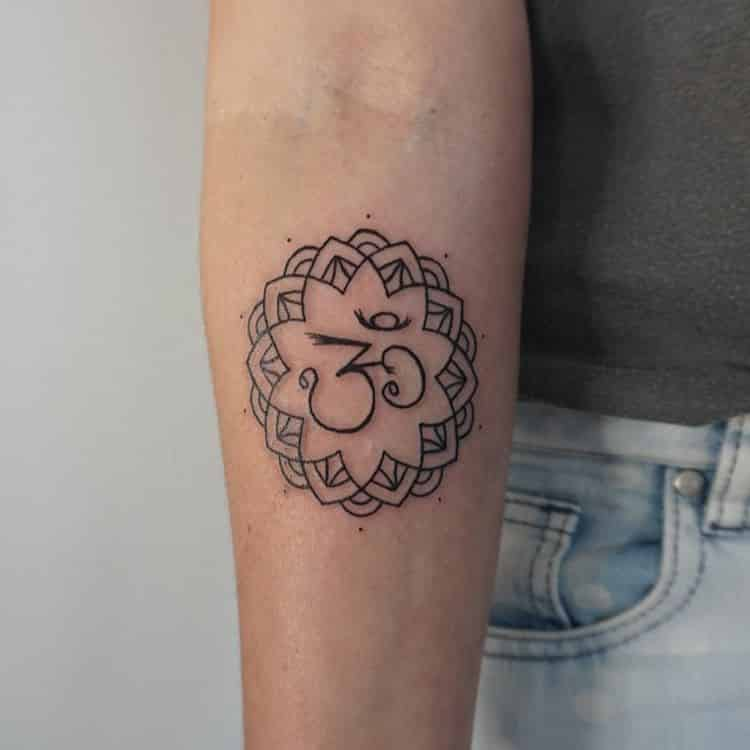 mandala-tattoo-with-Om-symbol