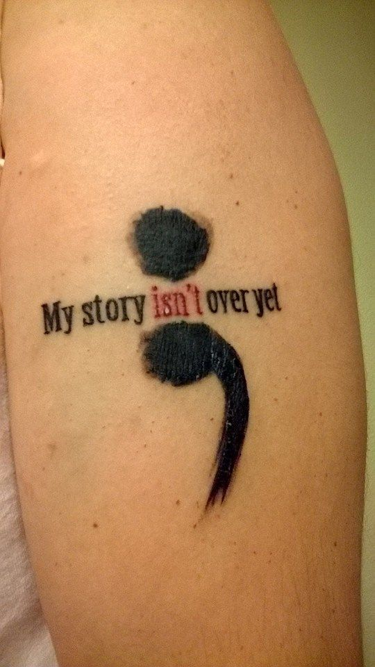 semicolon tattoo pictures images