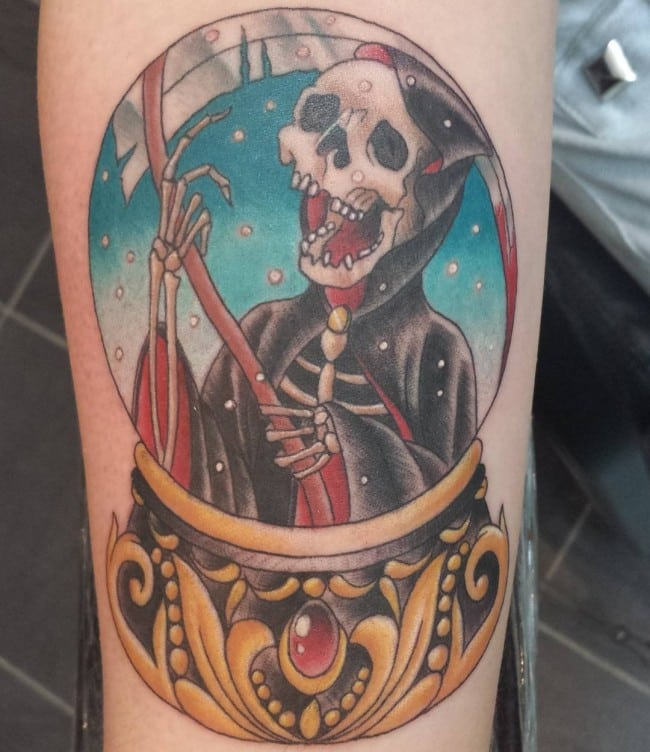 Grim Reaper Tattoo Nordic Tattoo: 105 Cool Grim Reaper Tattoos Designs, Ideas And Meanings