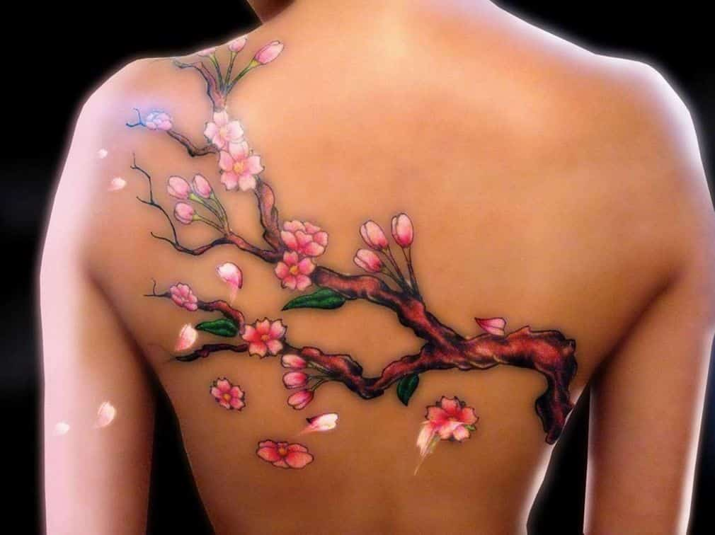 Cherry Blossoms Tattoo Ideas For Women