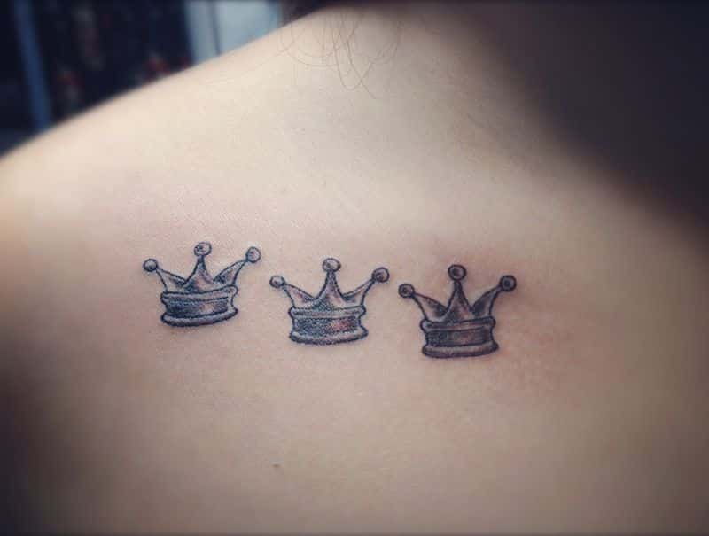 Prince crown tattoo on chest tattoo bytes for Crown tattoos on lower back