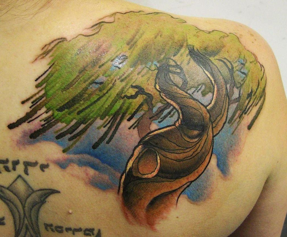 Willow Tree Tattoo Art Design