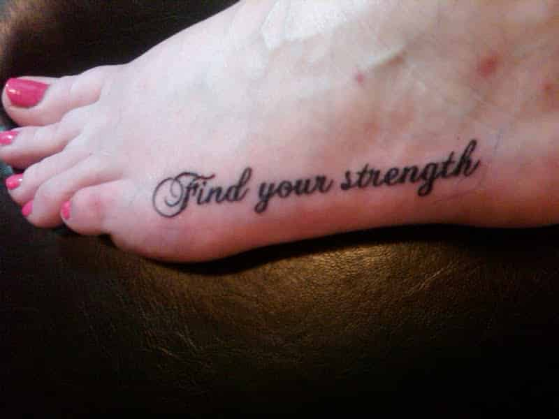 Foot Strength Tattoo