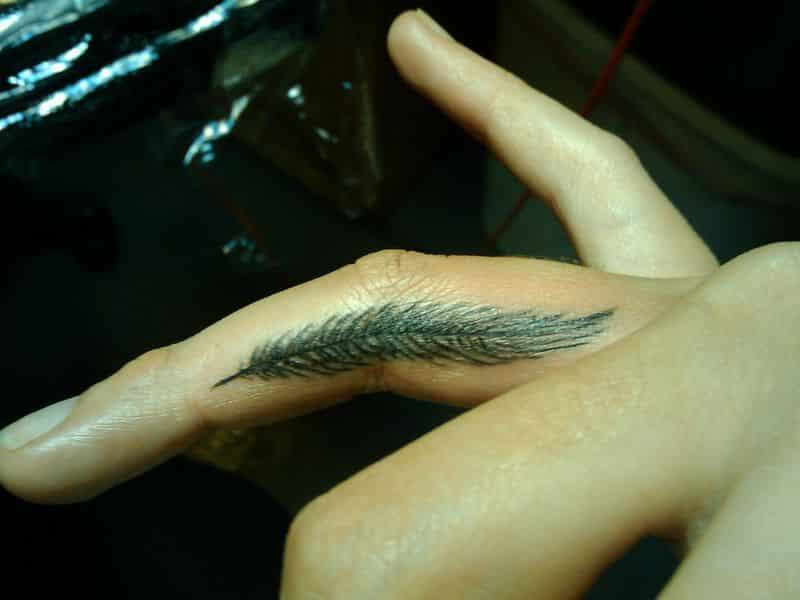 Small Feather Tattoos Designs