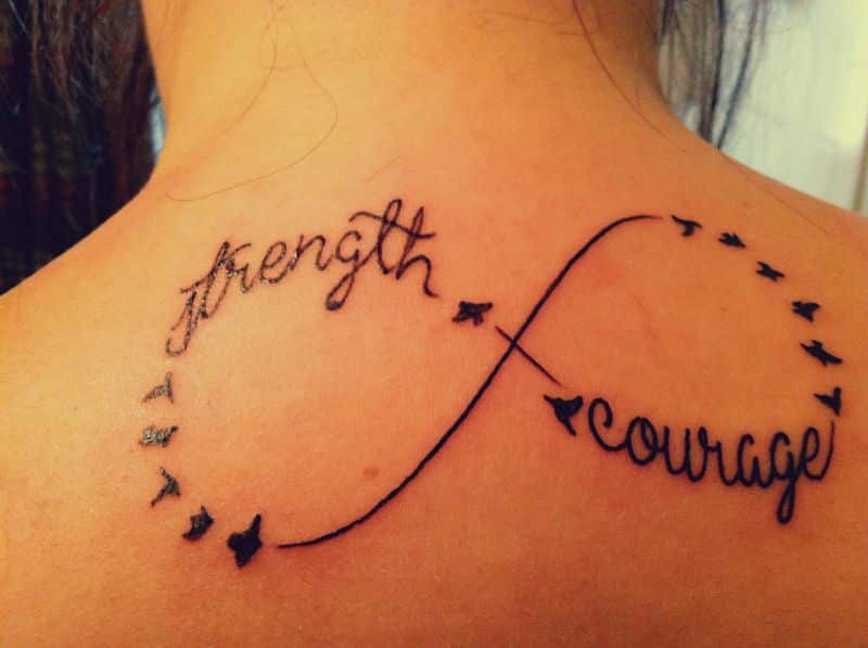 Strength Tattoos On Back