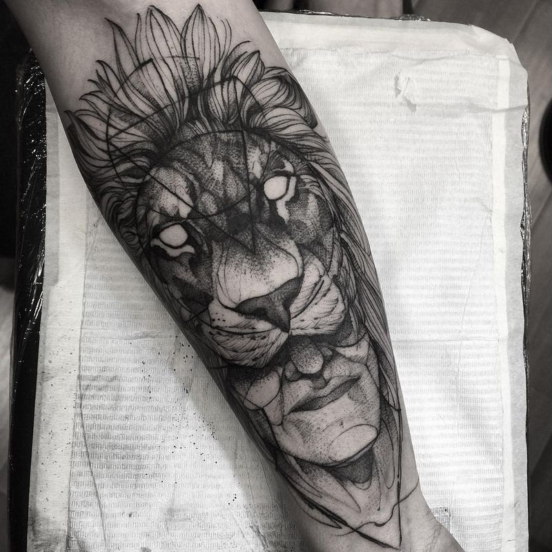 Tiger Forearm Tattoos
