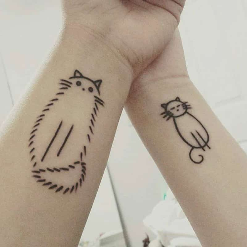 Catty friendship tattoos
