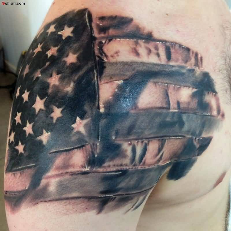 Coolest Army Flag Tattoo