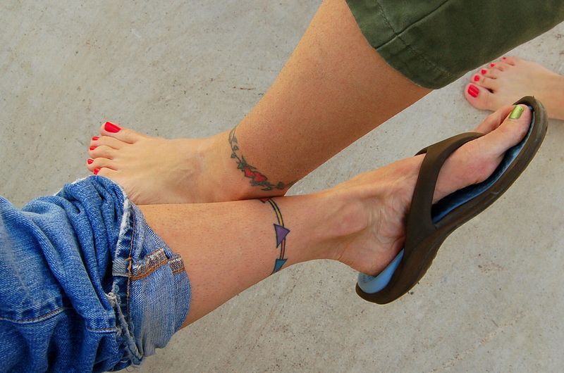 Twins Ankle Tattoos