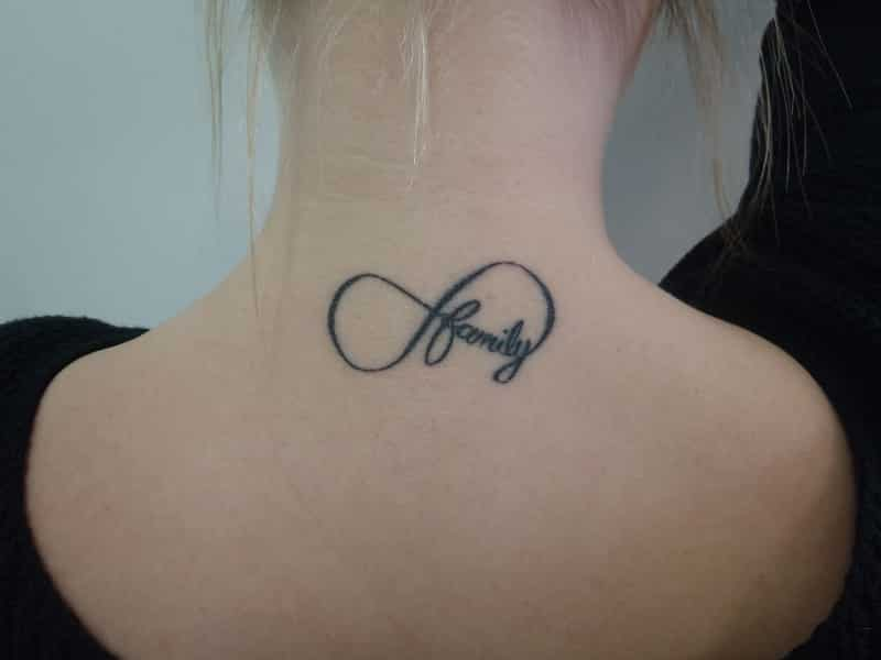 infinity tattoo with names