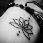 Lotus Flower Semicolon Tattoo Tattoo Bytes